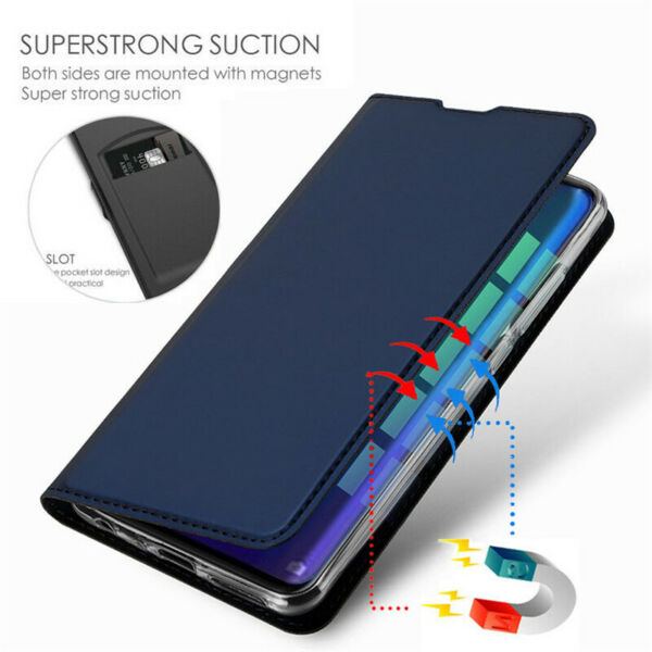 For OnePlus 7 Pro 7 6T 6 5T 5 Slim Leather Magnetic Flip Wallet Card Case Cover