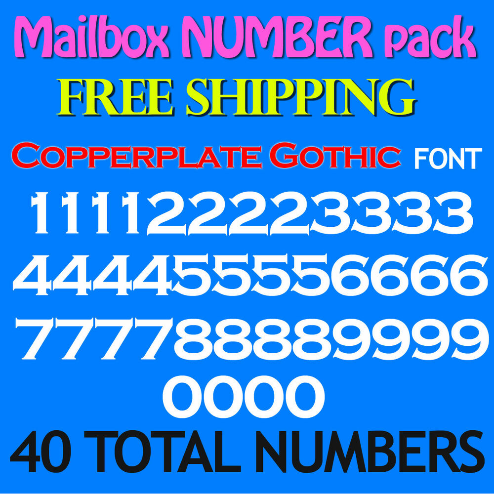 Details about mailbox number decals copperplate 3 4 1 1 5 2 2 5 3 free ship stickers