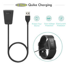 2Pcs USB Replacement Power Charger USB Cable For Fitbit Charge 2 Smart Watch USA