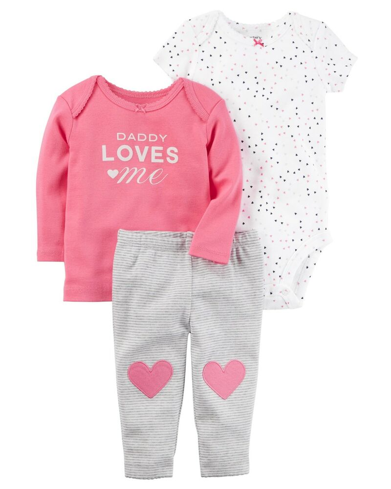 0b5422f98 Details about Carter's 3-Piece Little Character Set Daddy Loves Me Outfit  18 Month NWT