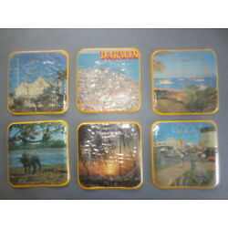 6 different DARWIN plastic back 1990,s Issued SOUVENIR COASTERS