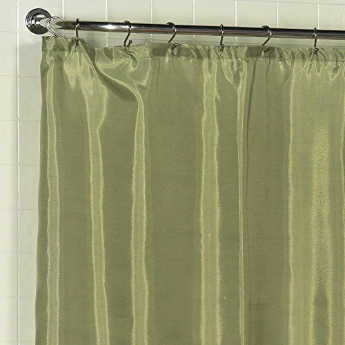 Details About 100 Polyester Fabric Shower Curtain Liner With Weighted Bottom Hem In Sage