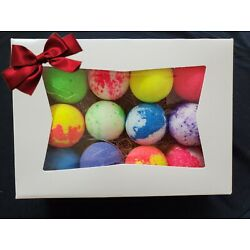 Kyпить  BATH BOMBS FIZZY LOT Of 12  ASSORTED - GIFT BOX INCLUDED! #33 на еВаy.соm