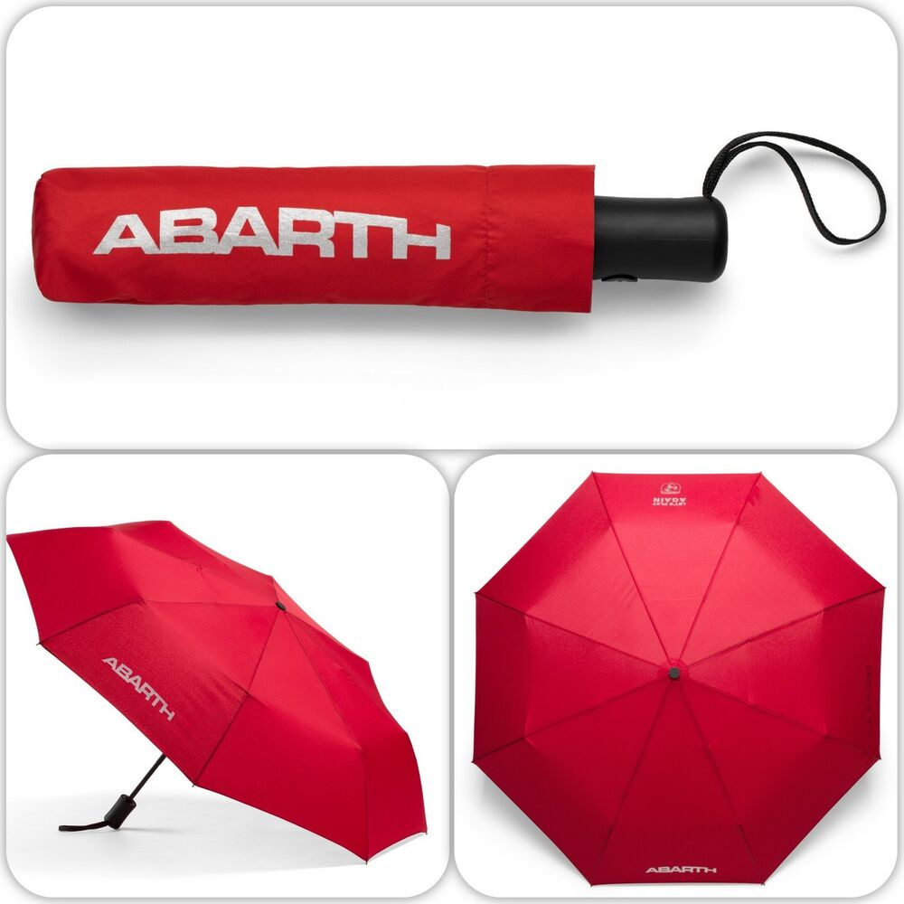Details About Fiat Abarth Compact Red Umbrella Push On Type New Genuine 6002350527