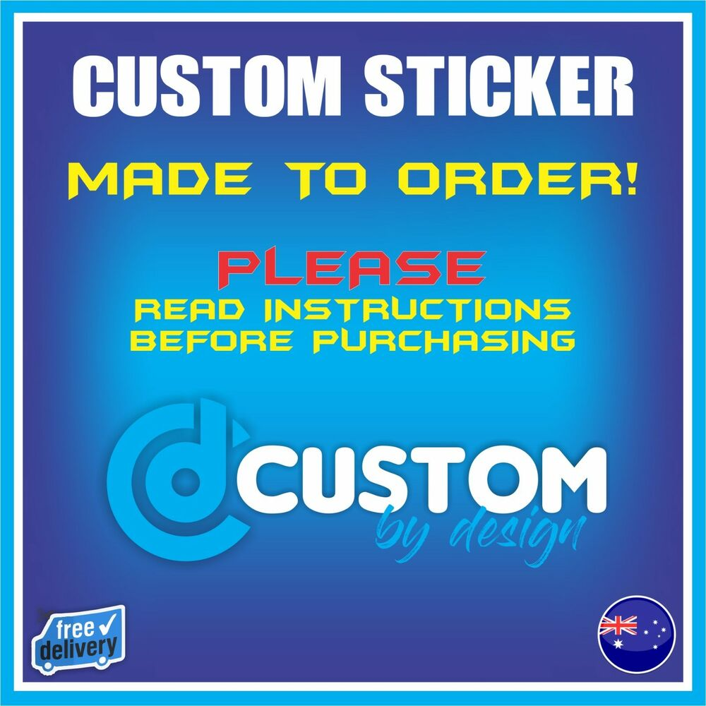 Details about custom stickers made to order vinyl decal die cut sticker personalised