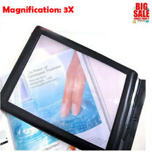 A4 Full Page 3x Magnifier Lens Aid Sheet LARGE Magnifying Glass Book Reading USA