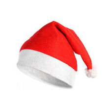 Traditional Red & White Christmas Holiday Felt Santa Hat Adult Costume Accessory