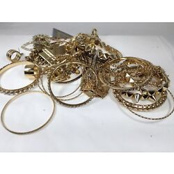 Kyпить LOT OF USED COSTUME JEWELRY Bracelets earrings rings gold use costume на еВаy.соm