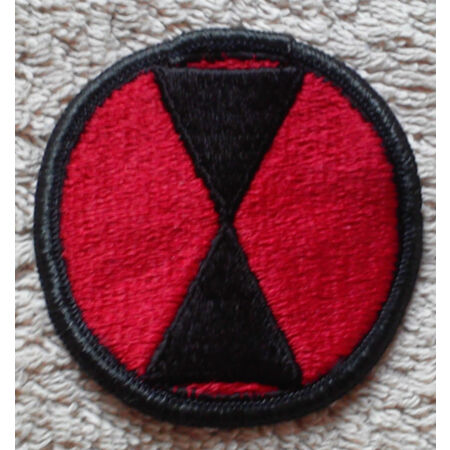 img-US ARMY PATCH 7th Infantry Division Colour Class A Uniform Badge United States