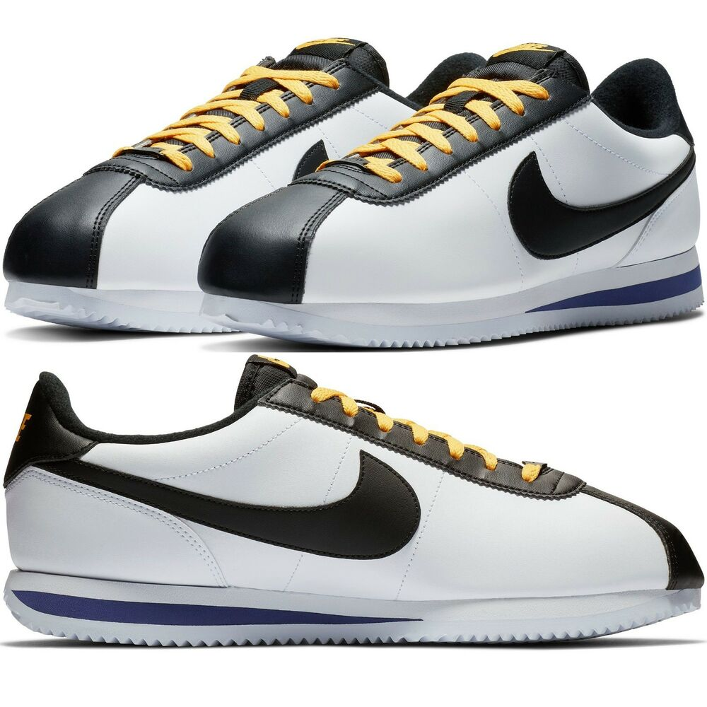 info for 45953 8fc43 Details about Nike Cortez Basic Leather Men s Sneakers Lifestyle Comfy Shoes
