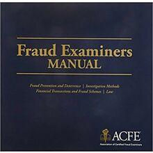 2016 US Fraud Examiners Manual - CFE - PDF ONLY