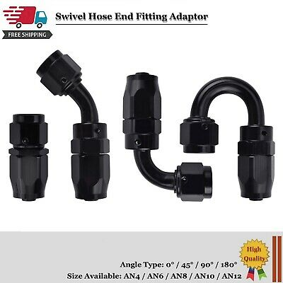 AN4/AN6/AN8/AN10/AN12 Swivel Hose End Fitting Adapter For Oil/Fuel/Gas Hose Line