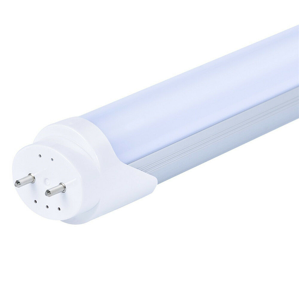 Details about 4 foot t8 led fluorescent replacement tube light fixtures without ballast 6000k