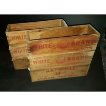 6 Antique Wood Cream Cheese Boxes