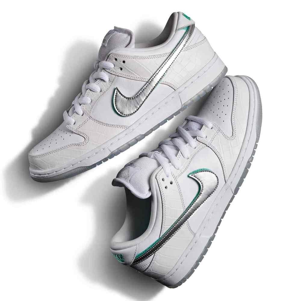 promo code 1b415 a2cbe Details about Nike SB Dunk Low Diamond Supply Co 9.5 White Skate Shop  Release Only Exclusive