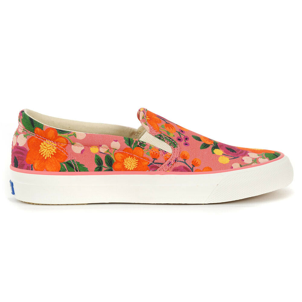 b81c44a0bf3 Details about Keds X Rifle Paper Co. Women s Slip On Vintage Blossom Pink  Shoes WF59856 NEW!