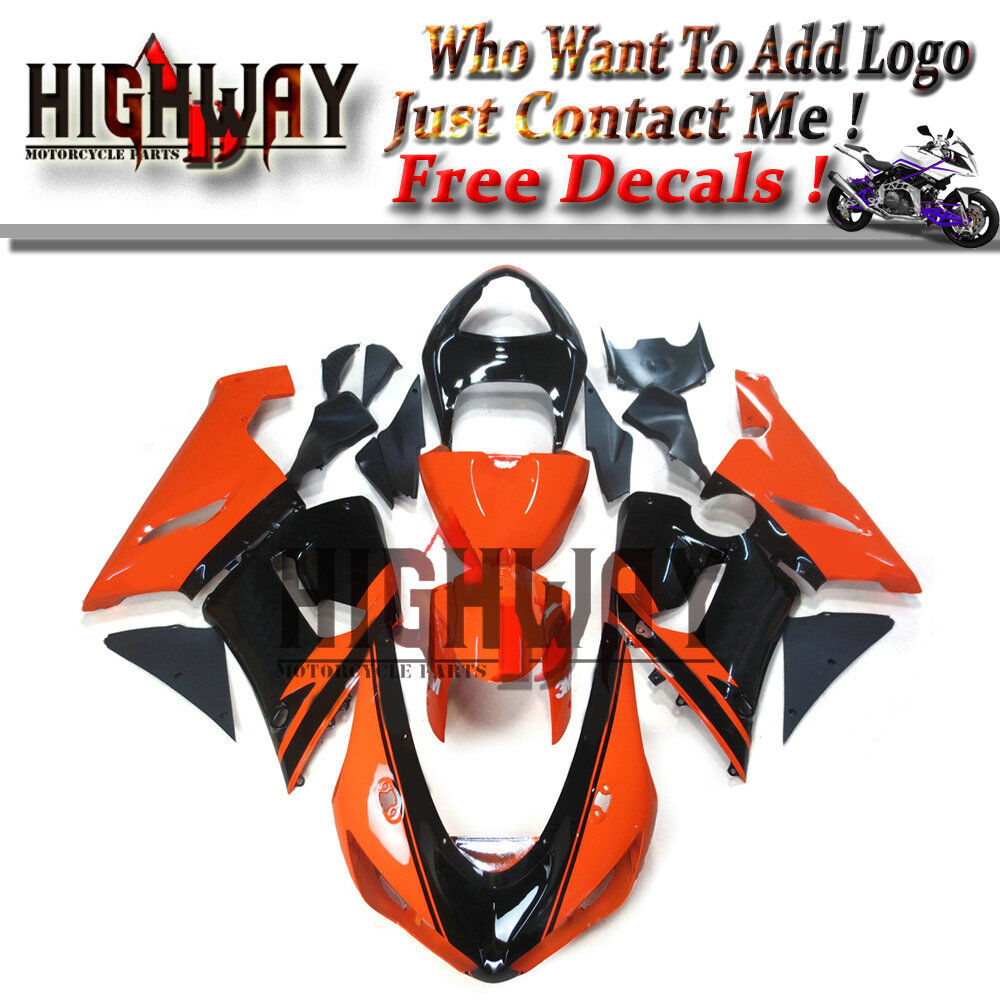 Details about abs fairing body work kit panels fit kawasaki zx6r 636 05 06 zx 6r