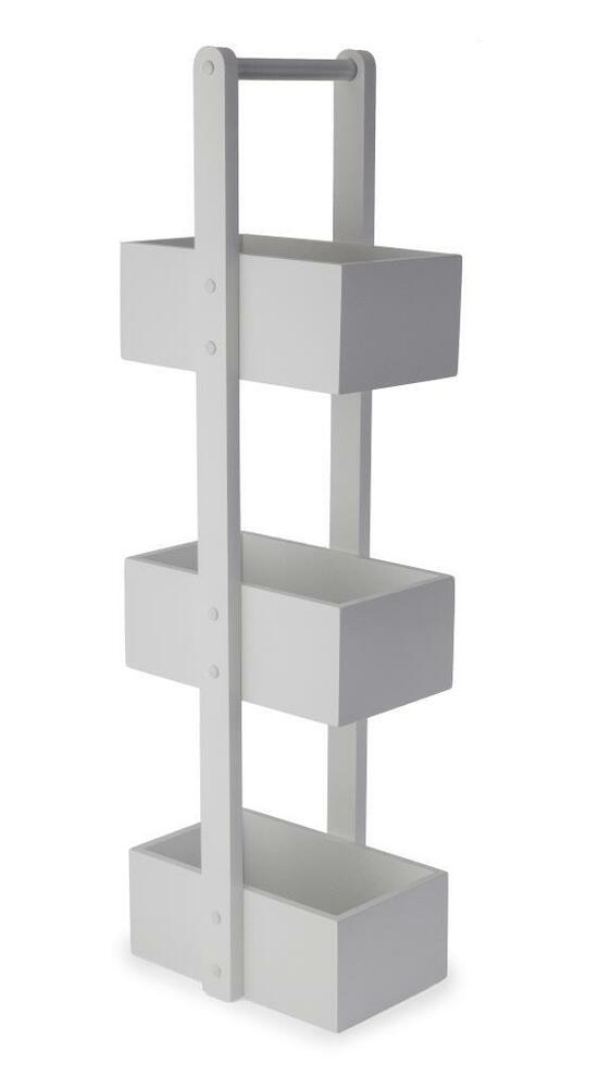 3 Tier White Wooden Bathroom Caddy Free standing Bath ...
