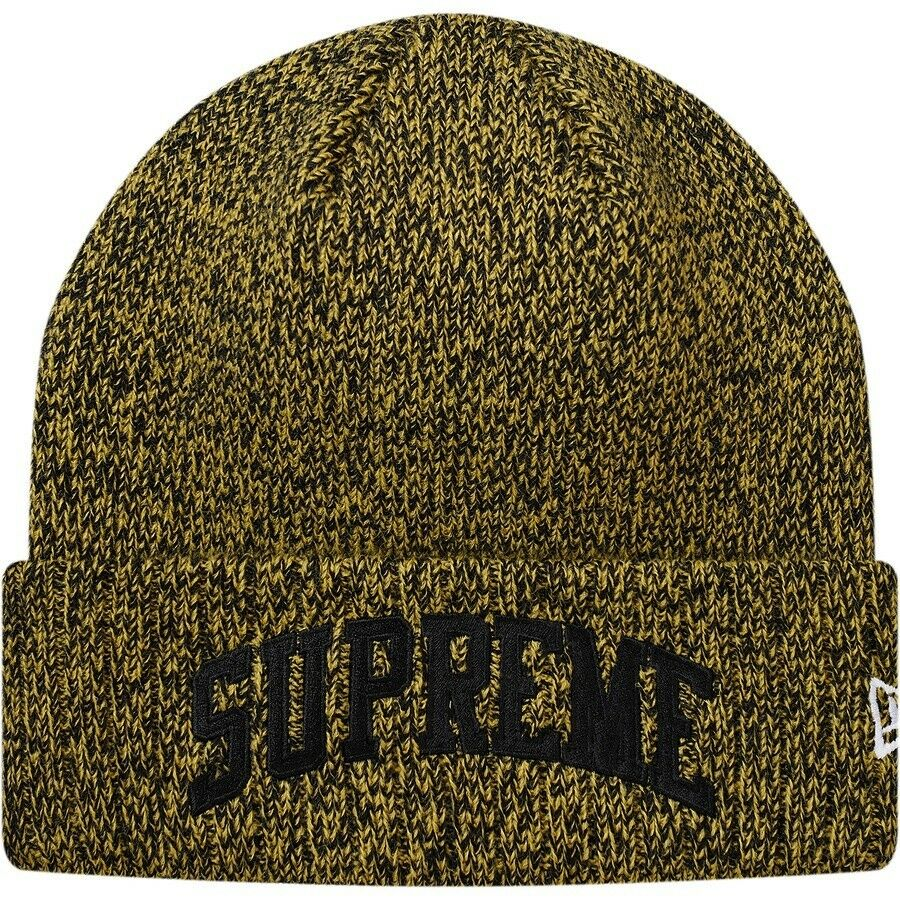 Details about Supreme New Era Arc Logo Beanie Yellow 100% authentic FW18 small  box logo 6cee17f1543
