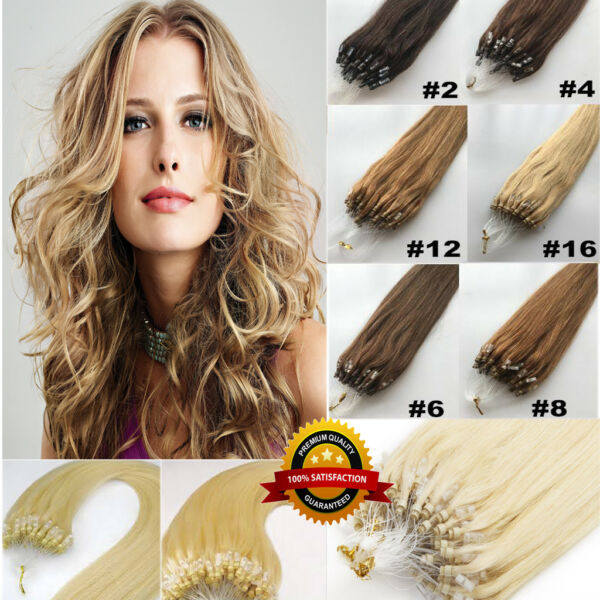 25-200S 1G EASY LOOP MICRO EXTENSIONS DE CHEVEUX A FROID 100% NATUREL micro FR