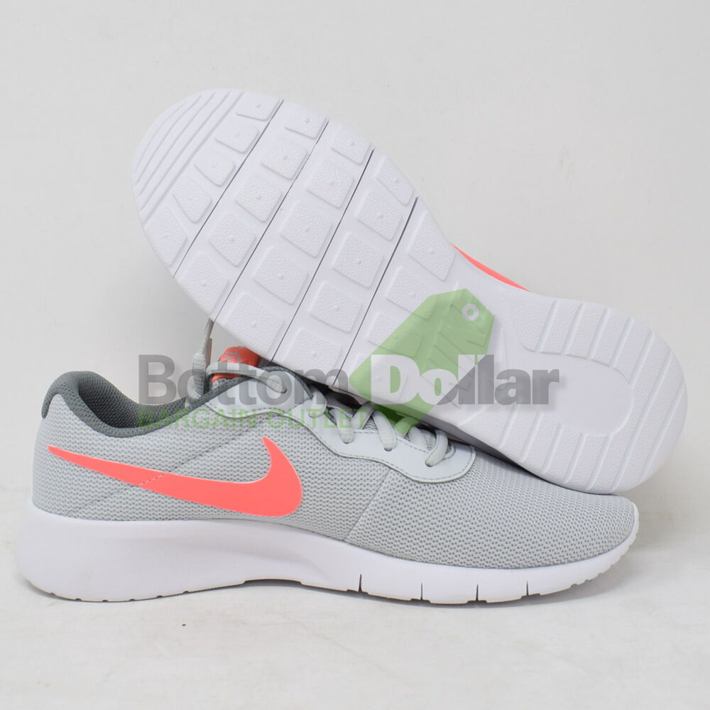more photos e2802 ba772 Details about Nike Tanjun (GS) 818384-002 Kids Sneakers Shoes Silver Coral  White