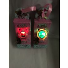 Lol Surprised Flashing Icon Dial Watch With Pink Band