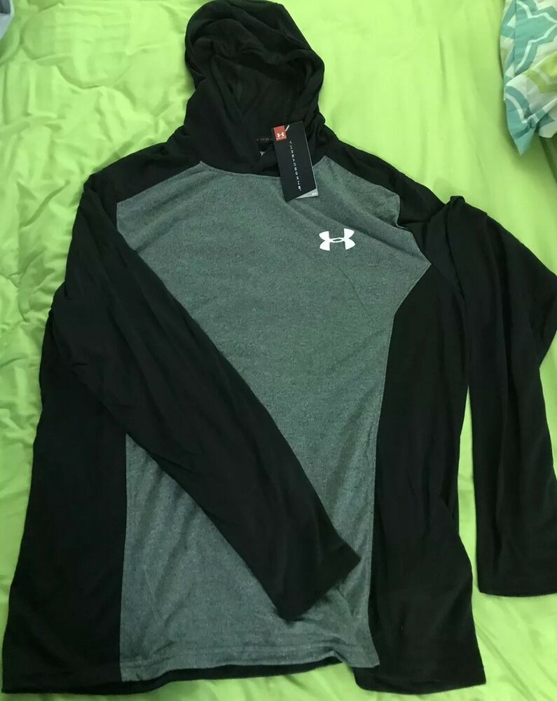 Under Armour Men/'s Thread Borne Hoodie XLarge Black//grey **NEW WITH TAGS**