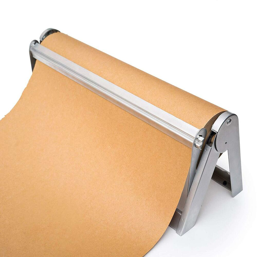 a09b7c83eba Details about Wrapping Paper Roll Cutter - Holder   Dispenser for Butcher  Freezer Craft Paper