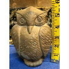 Taino?? - Pre Columbian Full Carved Stone Owl 6 inches