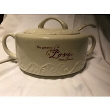DaySpring Christmas Soup Tureen Or Serving Dish With Ladle The Love Of Jesus
