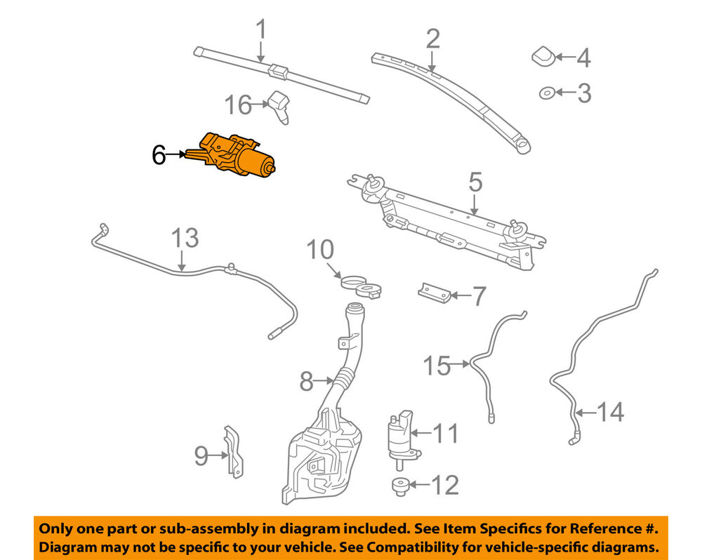 details about gm oem front windshield wiper motor 25942547