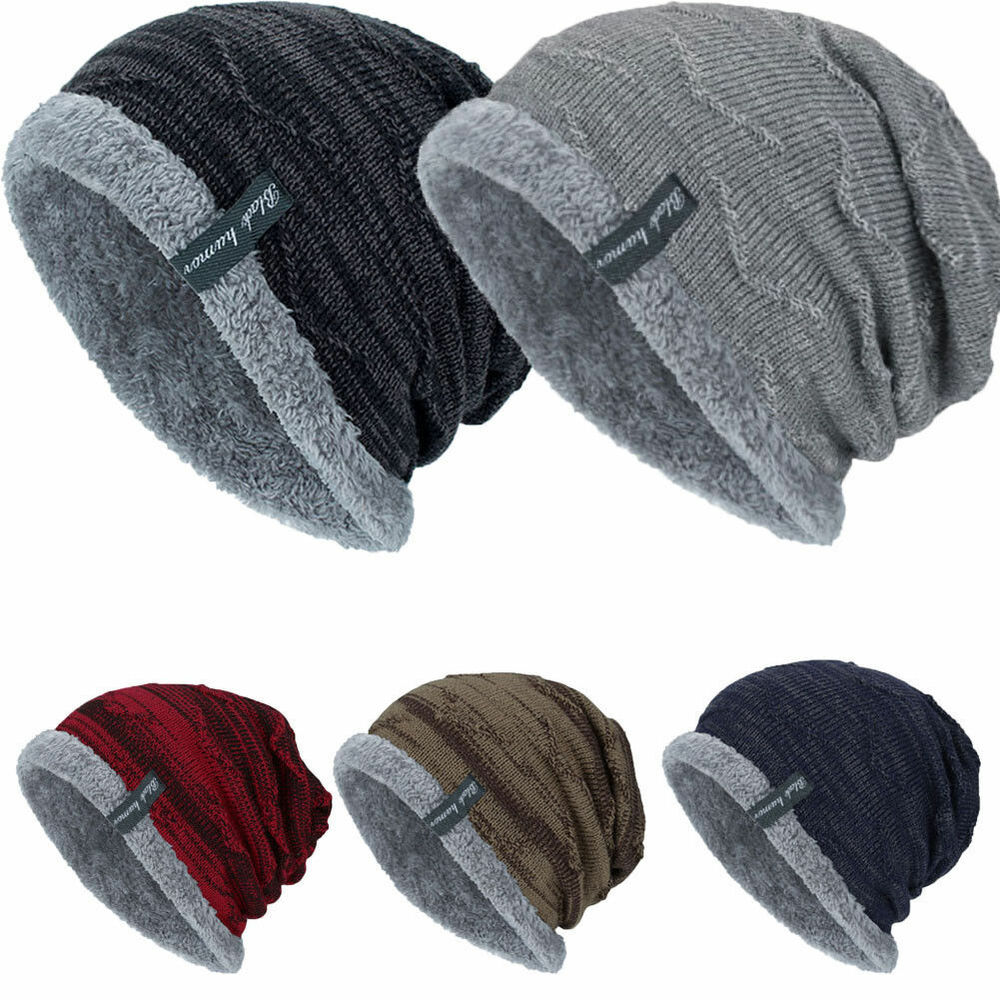 6952b40945f Details about Men Women Knitted Baggy Beanie Winter Warm Hat Ski Causal  Knit Cap Unisex Hat BY