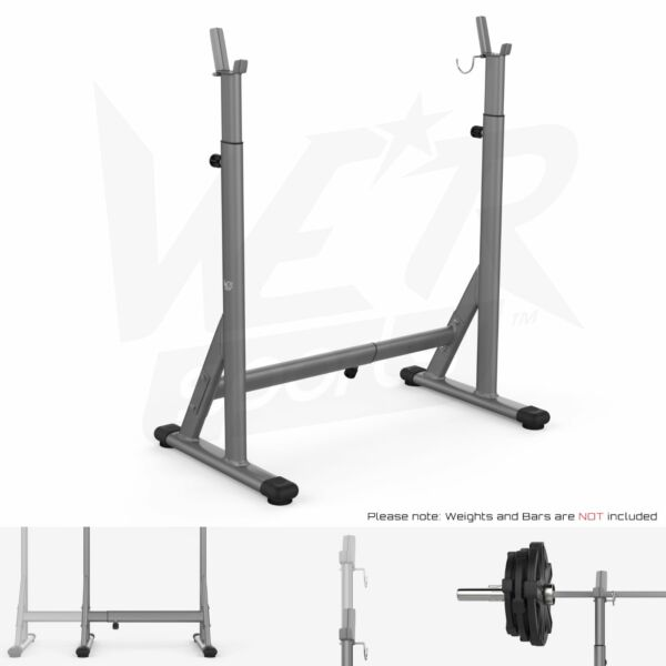 Adjustable Squat Barbell Power Rack Stand Weight Bench Support Home Gym Fitness