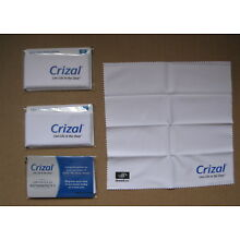 4 CRIZAL FULL SIZED Sealed Microfiber Cleaning Cloth Glasses Phone Lens Camera