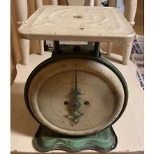 Vintage Working Pelouze Family 24# Scale Deluxe Green Base