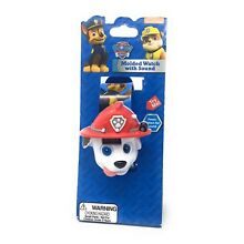 Paw Patrol Kids LCD Watch With Sound Marshall Molded Case Decorated Plastic Band