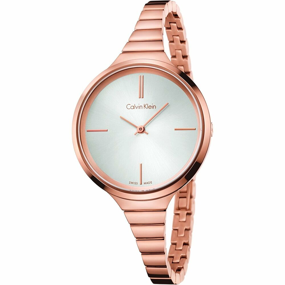 87bf0bd27e5 Details about Calvin Klein K4U23626 Lively Rose Gold Tone Women s Swiss  Made Fashion Watch