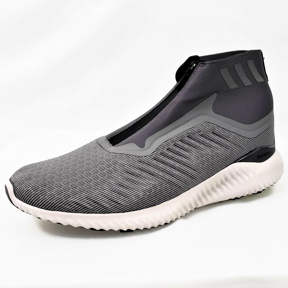 385676de38441 Details about New Adidas Alphabounce 5.8 Zip M Mens Laceless Training Shoes  - Grey Size 12