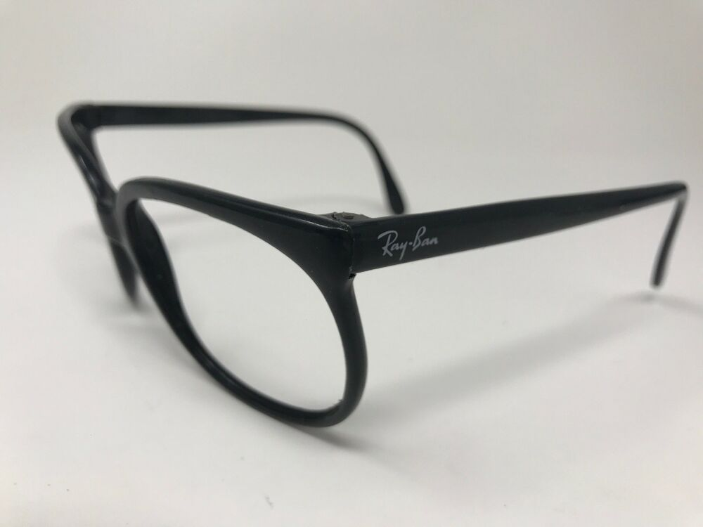 fa8fb61017 Details about Vintage Bausch Lomb Ray-Ban Sunglass Frame FRANCE A5594 YTAS  Glossy Black LG74