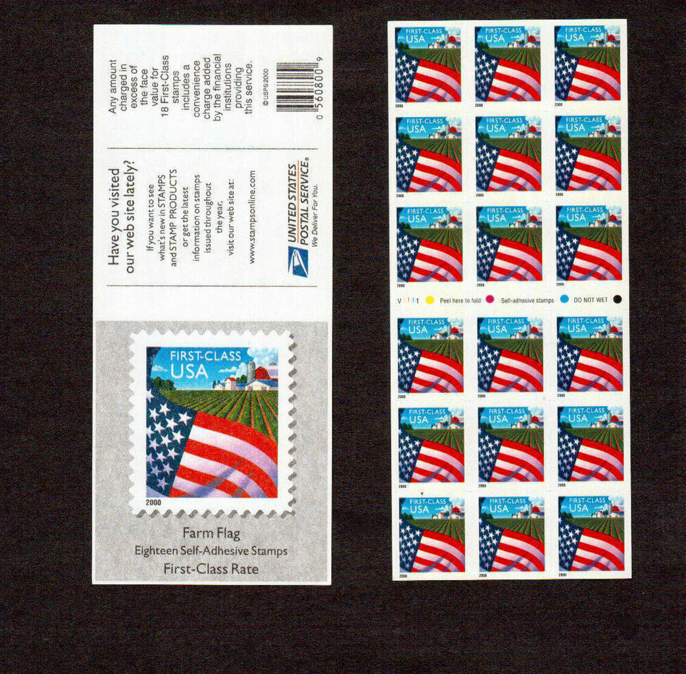 Stamps Full Booklet A Non Denominated Cent U Flag Over Farm Ebay First Jpg 1000x983