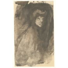 Steinlen Lithograph - Haunting Portrait of a Woman
