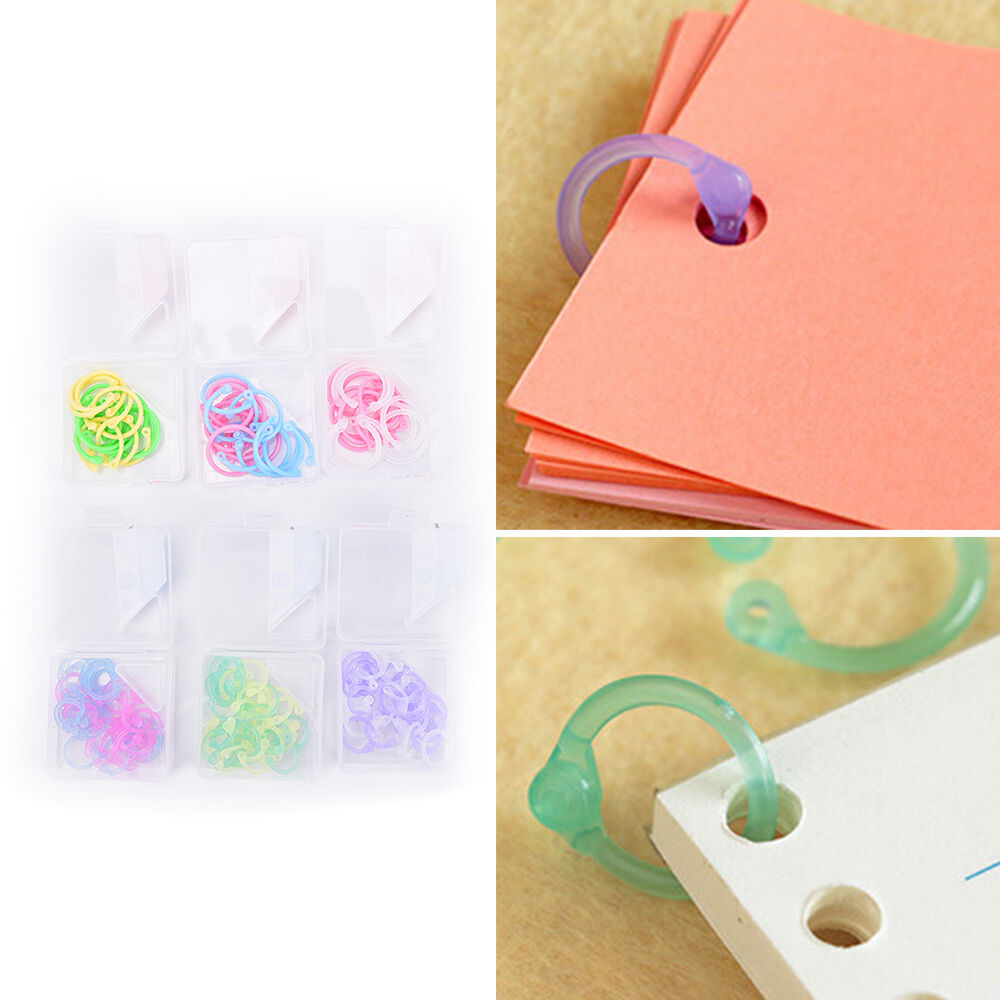 1Box Plastic Ring Binder For Spiral Notebook Diary Loose