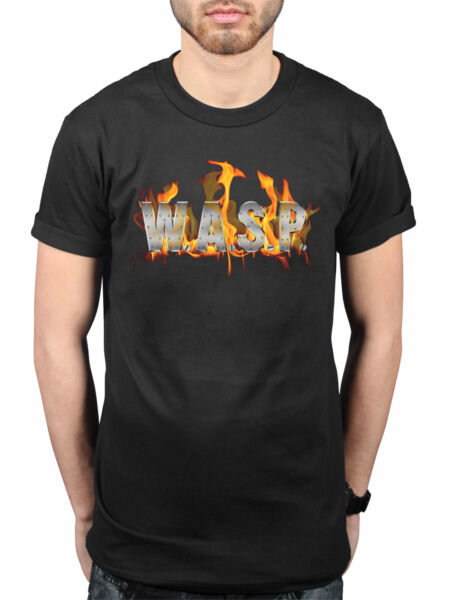Official W.A.S.P. World Domination T-Shirt Heavy Metal Band I Wanna Be Somebody