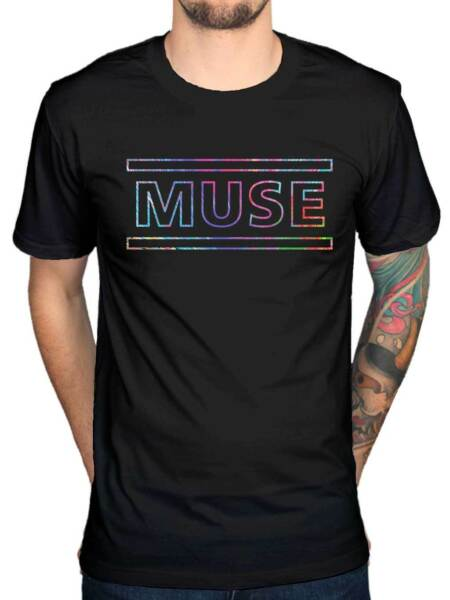 Official Muse The 2nd Law Logo T-Shirt Song Titles Spectrum Metal Hard Rock Band