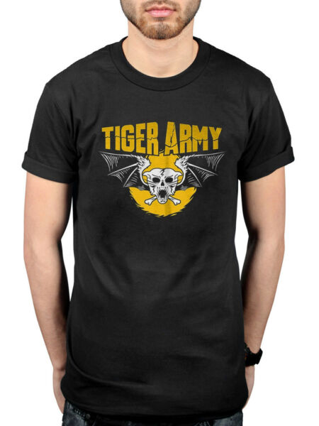 Official Tiger Army Skull T-Shirt Cupids Victim Ghostfire Prisoner Of The Night