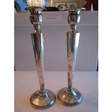 STERLING SILVER CANDLE STICKS - 10