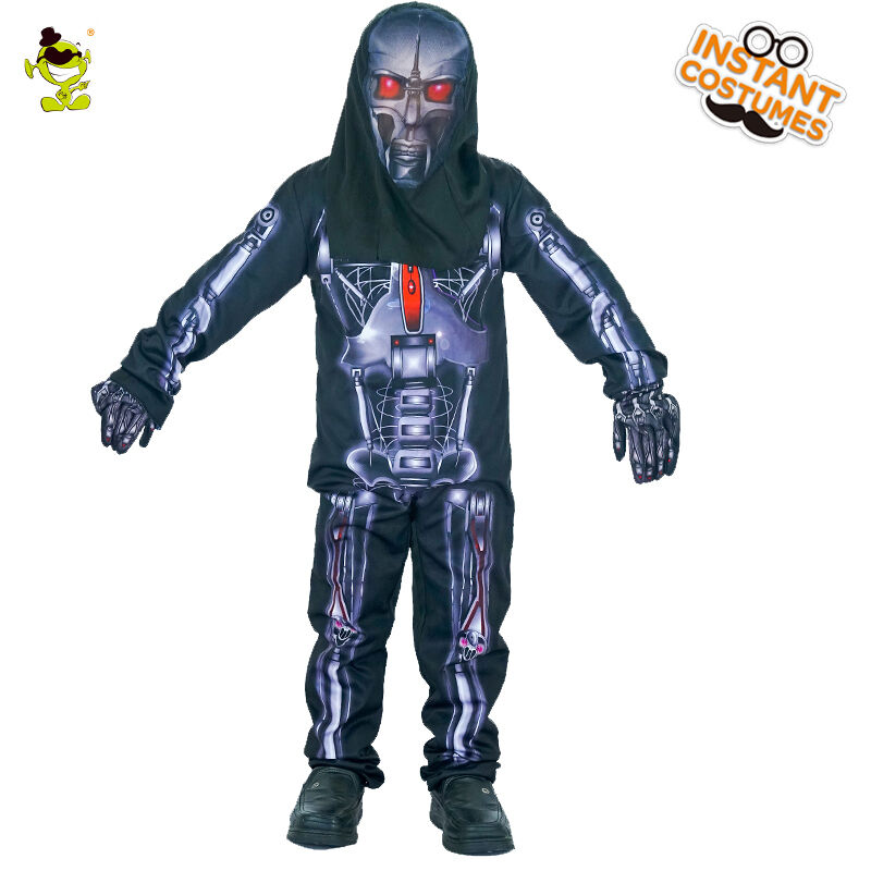 3d Print Skeleton Robot Costumes Boys Halloween Party Scary Skull