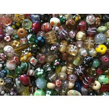 Handmade Lampwork Glass Beads Mixed Color Assorted Venetian Style 1/2 Pound Lot