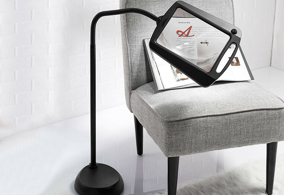 Magnifying Reading Glass Led Light 5x Magnifier Lamp Large