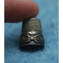 Antique Sterling Silver Bellflower Thimble by Waite, Thresher Co. * Circa 1890s